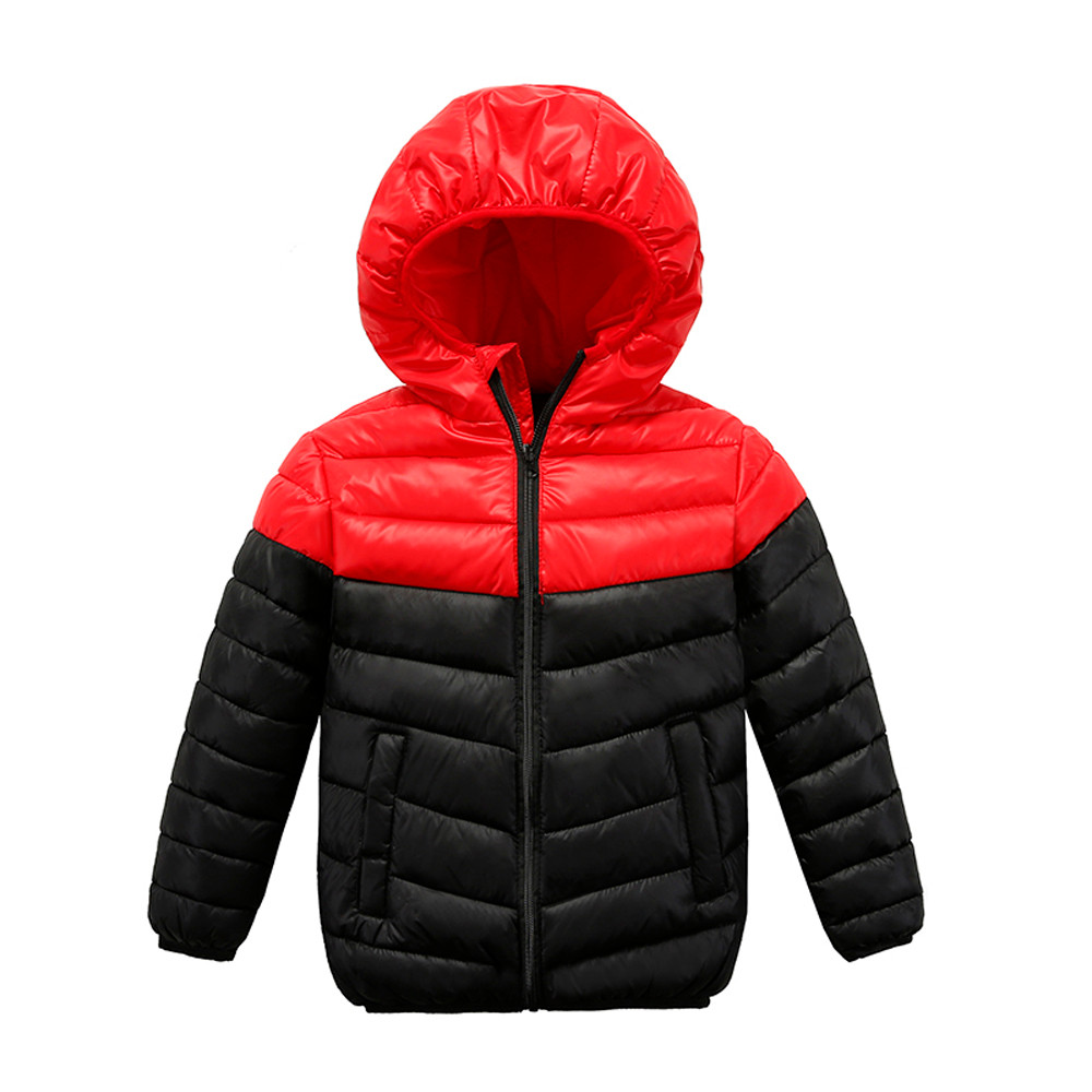 2018 Children jacket Outerwear Boy and Girl Autumn Winter Warm Down Hooded Coat teenage parka kids winter jacket dropshipping
