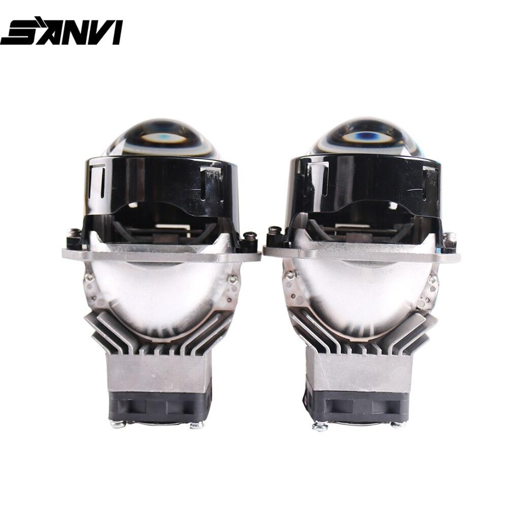 Sanvi 3inch J1 45W 5500K Bi LED Projector lens Headlight  12V Auto for Car Light Upgrade