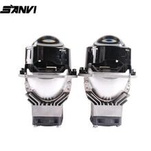 Sanvi 3inch J1 45W 5500K Bi LED Projector lens Headlight  12V Auto LED Projector Headlight for Car Light Upgrade