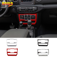 BAWA Interior Mouldings Window Central Control Panel Decoration Frame for Jeep Wrangler JL 2018 Car Interior Accessories