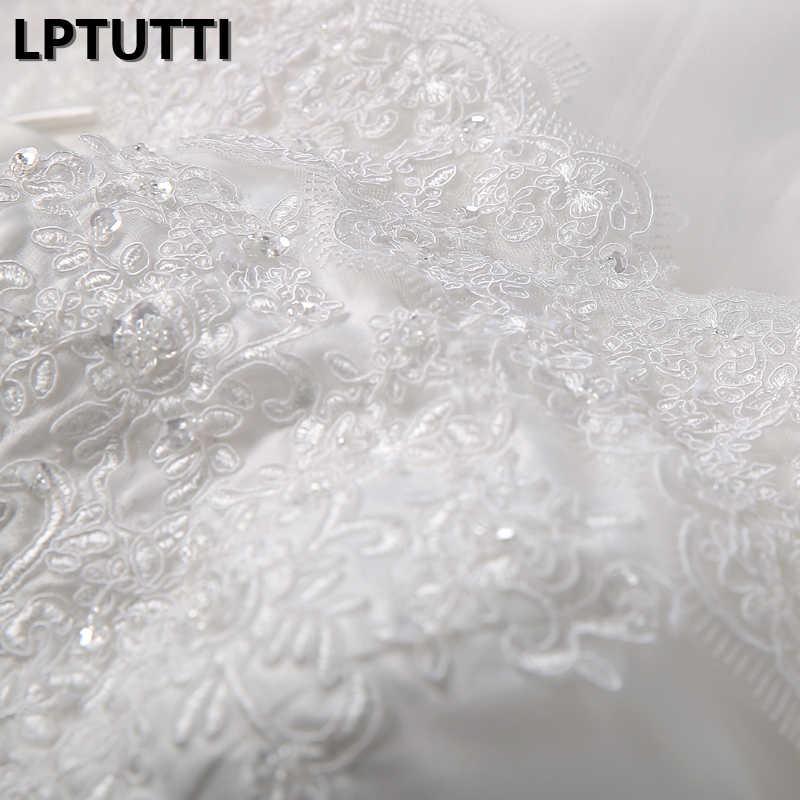LPTUTTI nowy biały koronka Sexy Vintage księżniczka Bridal suknia ślubna panny młodej Boho proste Party długie luksusowe wydarzenia ślub sukienka