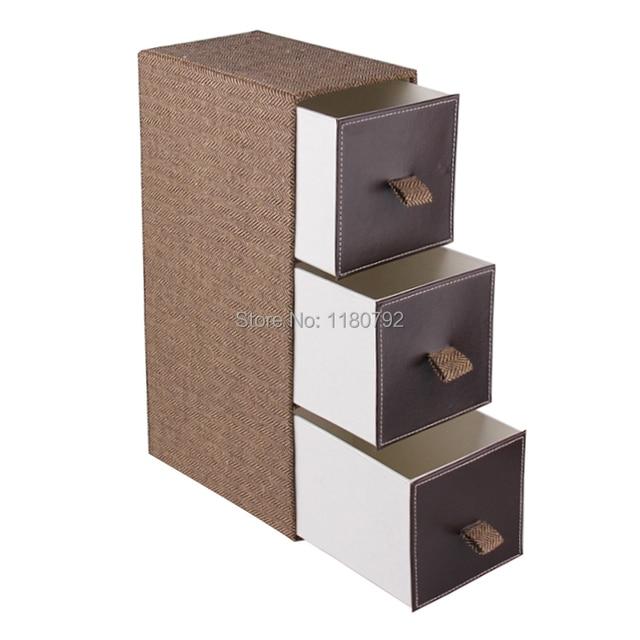 Delicieux [ROWLING] Fabric Storage Bins Box 3 Drawers Desktop Portable Jewelry  Organizer Box Dust Free