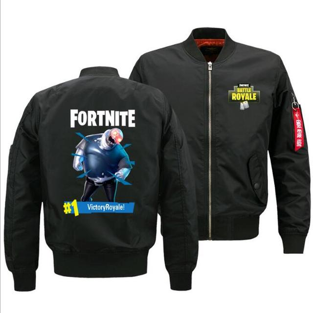 Game Fortnite jacket winter baseball uniform men's air force pilot victoryroyale custom thick coat six roles Ouma S-5XL