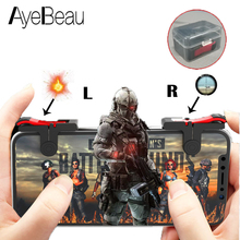 Купить с кэшбэком Smart Gamepad L1R1 Pubg Mobile Controller Game Joystick Trigger For Cellular Phone Cell Dzhostik Shooter L1 R1 Fire Button Ios