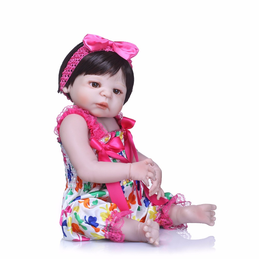 NPK 19inch 48cm full Silicone Reborn Baby Dolls Lovely Doll bonecas Reborn For Baby Gift Bonecas Bebes Reborn BrinquedosNPK 19inch 48cm full Silicone Reborn Baby Dolls Lovely Doll bonecas Reborn For Baby Gift Bonecas Bebes Reborn Brinquedos