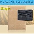 Новые Беспроводные Bluetooth Keyboard case для Onda V919 воздушный КАНАЛ, для Onda V919 воздуха V989 воздуха двойной загрузки клавиатура case бесплатно 4 подарки