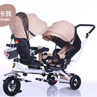 The Children Tricycle Twin Baby Cart Double Bicycle Light Baby Stroller 3 Wheel Tricycle Baby Bike