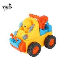 Meninos Dos Desenhos Animados Elétrica Legal Caminhão Veículo de Engenharia de Construção Montar Brinquedos Veículos Brinquedo Para Crianças Educacionais Brinquedos Do Carro
