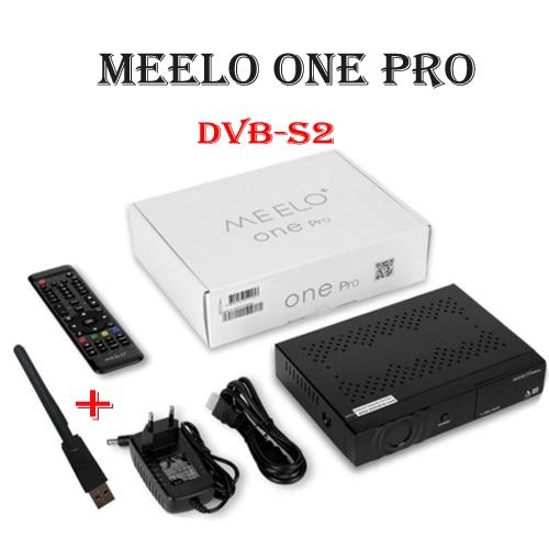 USB WIFI+MEELO+ ONE PRO 1080P Full HD DVB-S2 Satellite Receiver H.265/HEVC/AVC Linux set top box Support YouTube Ccam Enigma2 vu solo pro v4 dvb s2 hd satellite receiver linux system enigma2 stable support youtube iptv bcm7362 751mhz mips media player