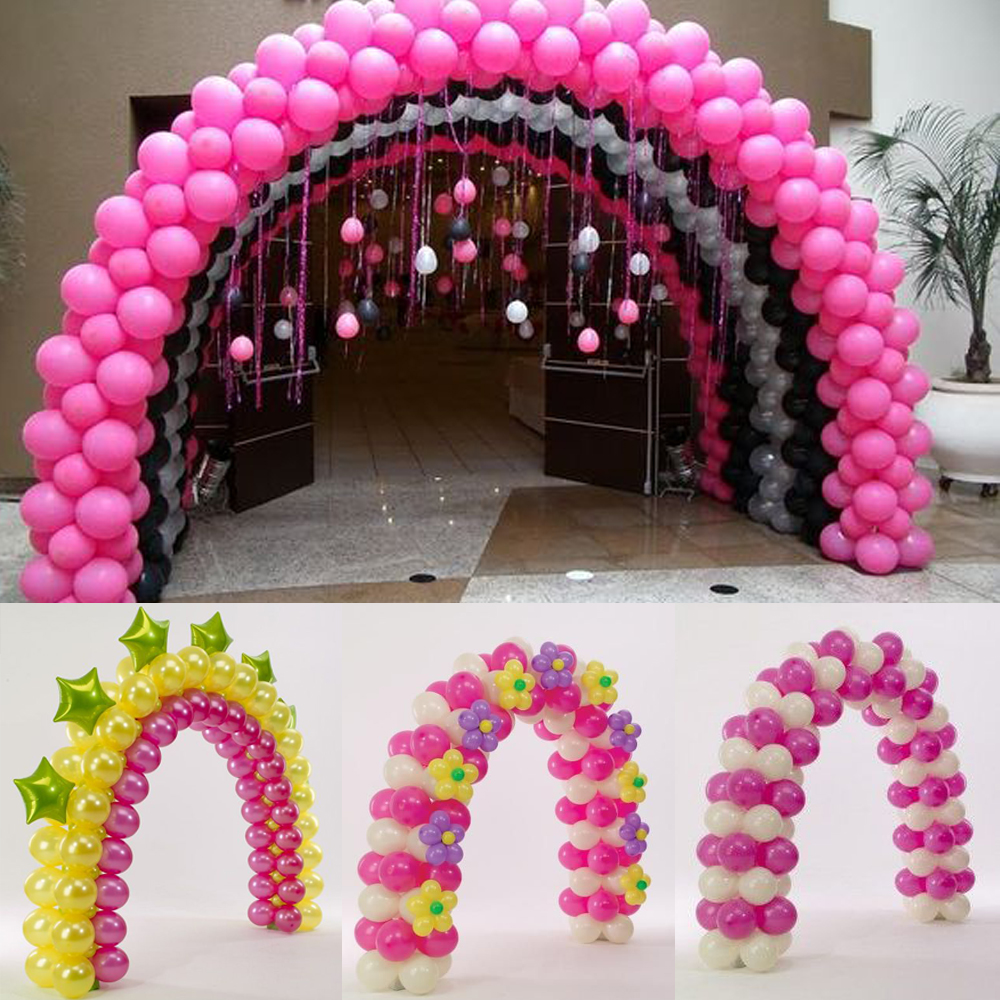 Full set balloon arch plastic pole for wedding decorations for Balloon decoration equipment