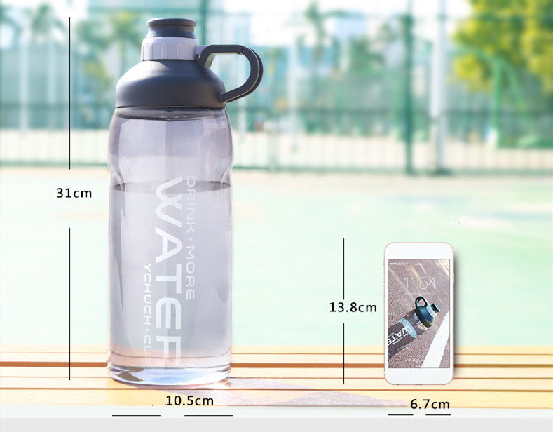 2000ml Large Capacity Water Bottles BPA Free Gym Fitness Drinking Bottle Outdoor Camping Cycling Hiking Sports Shaker Bottles