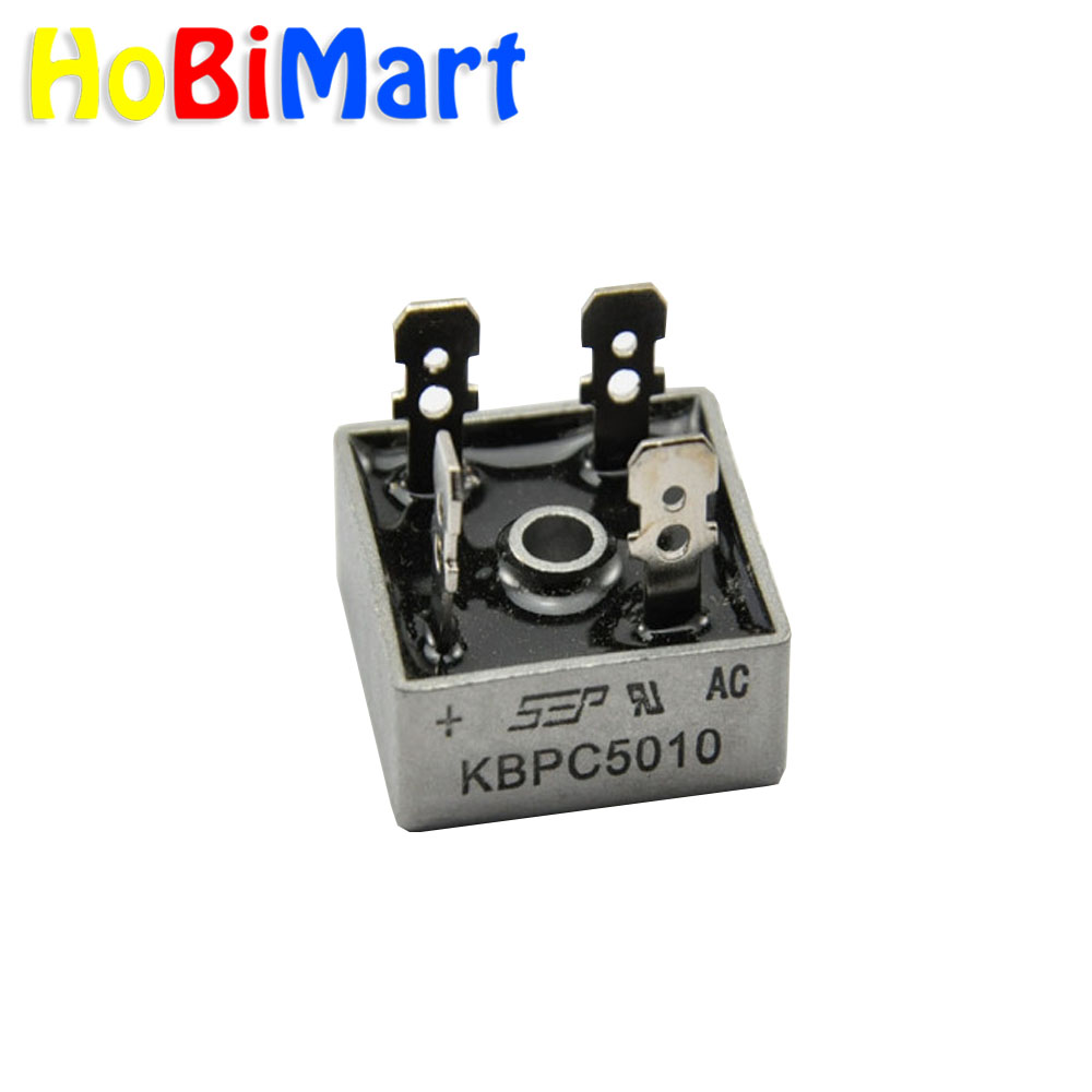 Hobimart 5pcs Kbpc5010 Bridge Rectifier 50a 1000v Single Phase Square Diode Metal Case: Kbpc5010 Bridge Rectifier Wiring Diagram At Eklablog.co