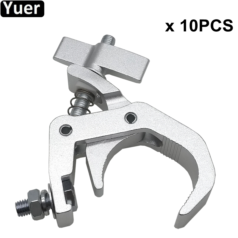 10Pcs Lot DJ Lighting Aluminium Material Stage Light 150kg 40 60mm Hook Light Clamp Holder LED