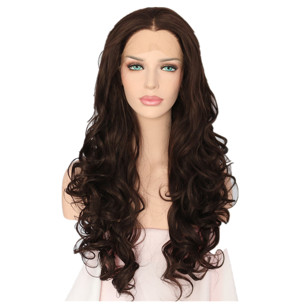 BeautyTown Brow Color 150 density Blogger Daily Makeup Synthetic Lace Front Party Wig With Widow s