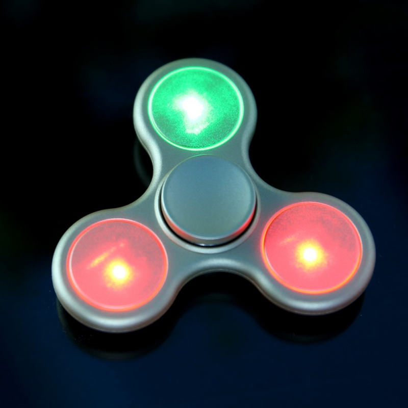 Hot Selling Colorful Lighting Fidget Spinner Toys and Long Time Rotation Fidget Hand Spinner For Autism Anti Stress Gift Toys