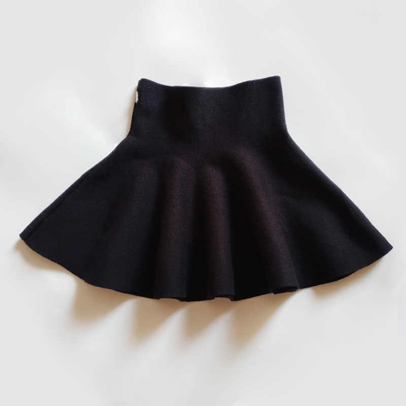 Nuevo Bebé niñas ropa de invierno moda Casual Falda de punto princesa Tutu faldas niños Navidad ropa niños ropa 2-14 años