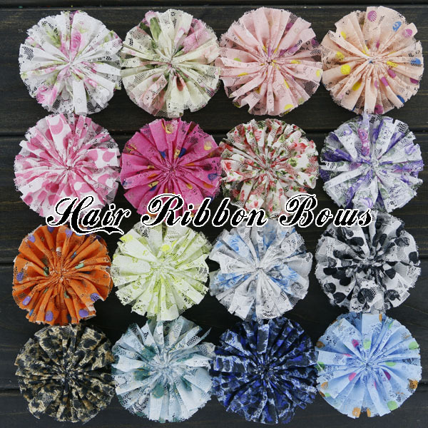 160pcs/lot 3″ Shabby Chic Ballerina Flowers Vintage Lace Flower Decoration Flat Back  Garment/Cloth/Shoes/Dress Accessories