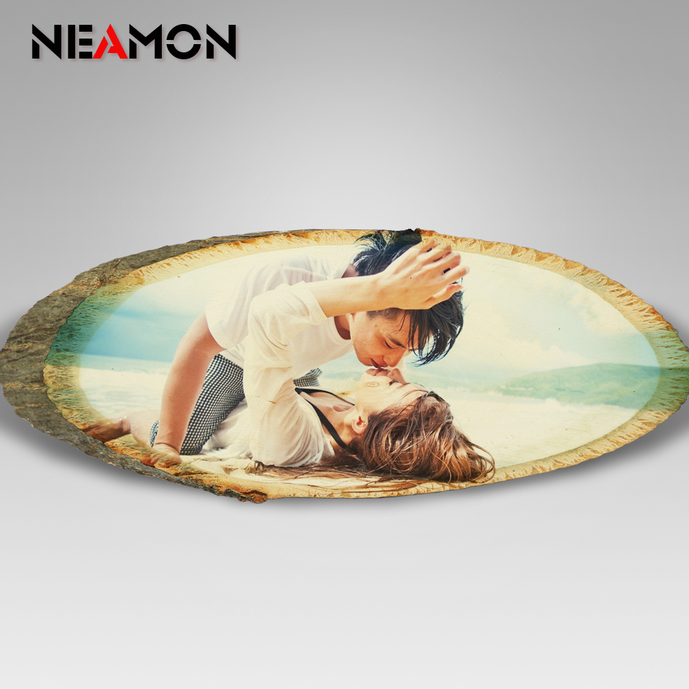 Customized ! Picture Frame Transfer on Wood Slice Cool Birthday Gift ...