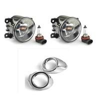 1Set Front Chrome Fog Light Lamp Cover Kit Trim Set Accessories For Ford Focus 2012 2014