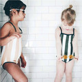 2017 kikikids bobo choses stripe baby girl boy one piece swimwear girls swimwear kids bathing suits