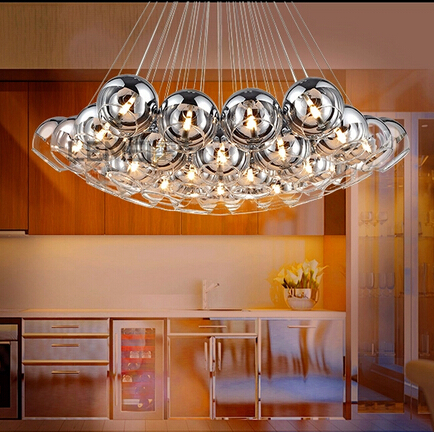 Pendant Lighting Gl Shades Led G4 Lobby Hotels Restaurant Italian Style Modern Hanging Lamps Ball Luxury Light In Lights From