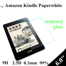 Paperwhite amazon ebook kindle touch tempered inch protector glass screen for