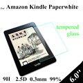6.0 pulgadas Paperwhite Protector de vidrio templado para Amazon Kindle Paperwhite táctil Ebook Protector de pantalla cristal
