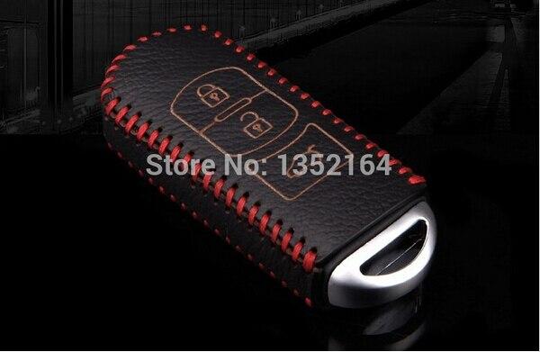 Skórzane etui na klucze, automatyczny uchwyt na klucze, kluczowy - Akcesoria do wnętrza samochodu - Zdjęcie 2