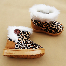 Fashion Children Winter Shoes Leopard Kids Snow Boots for Girls Boys Warm shoes Casual Plush Child boot Baby Toddler Shoes