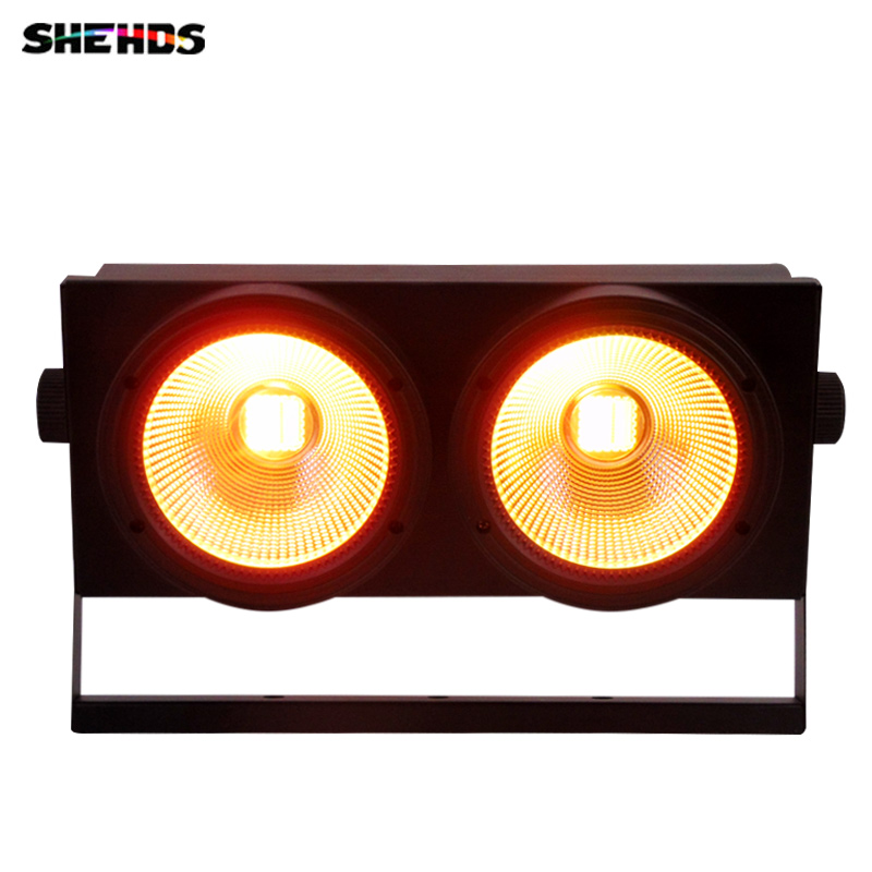 LED 2x100W White Or Warm White Theater Light COB 2 Eyes 200W DMX LED Blinder Stage Light For Theater Concert