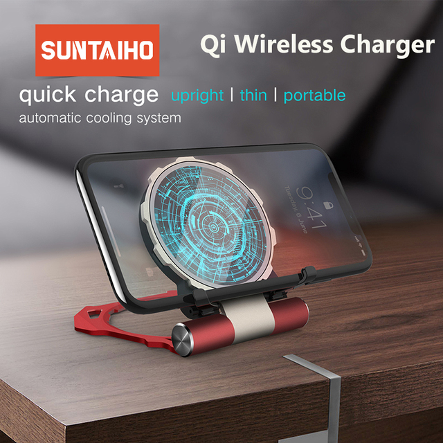 Suntaiho 10W Qi Wireless Charger for Samsung S10+ S8 S9 Plus Xiaomi Mi 9 Mix 3 2s Fast Wireless Charger for iPhone Xs Max XR 8P