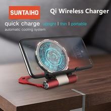 Suntaiho 10W Qi chargeur sans fil pour Samsung S10 + S8 S9 Plus Xiaomi Mi9 chargeur sans fil rapide pour iPhone 11 Pro MAX Xs Max XR 8P