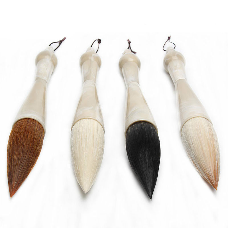 Excellent Quality Chinese Calligraphy Brushes Pen Weasel Hair Hopper-shaped Brush Student School Calligraphy Writing Couplets цена