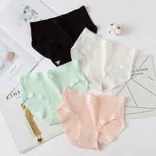 Womens Cotton Panties 3pcs/lot Female Lace Edge Breathable Briefs Sexy Underwear Women Crotch Lingerie Intimates