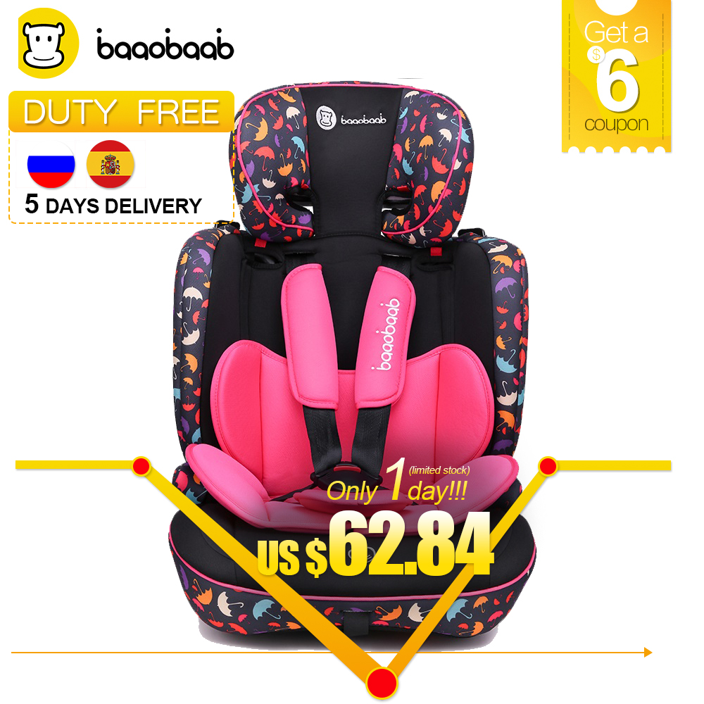 Baaobaab BA05A 9 Month -12 Years Old Child Car Seat Forward Facing 9-36 kg Five-Point Harness Baby Booster Safety Seats child car safety seat 9 month 12 years old baby protection auto car seat forward facing 9 36 kg five point harness safety seats page 1
