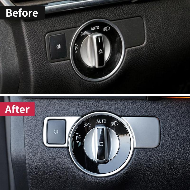 For Mercedes benz ml350 gl gls x166 gle 350d w166 coupe c292 amg A w176 B W246 CLA C117 glk x204 Headlight Switch Button trim