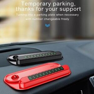 Image 4 - Baseus carta di imballaggio per auto temporanea per luce notturna per auto numero di telefono targa di notifica organizzatore di cavi supporto per telefono cellulare