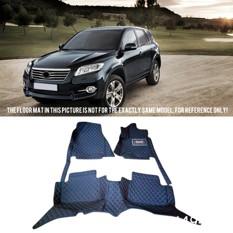 For Toyota RAV4 2006-2012 Interior Leather Custom Waterproof Car Styling Auto Floor Mats & Carpets Pads awo compatibel projector lamp vt75lp with housing for nec projectors lt280 lt380 vt470 vt670 vt676 lt375 vt675
