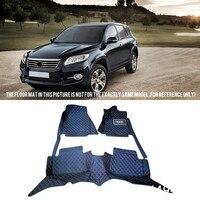 For Toyota RAV4 2006 2012 Interior Leather Custom Waterproof Car Styling Auto Floor Mats & Carpets Pads