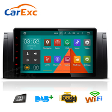 """"""" один Din в тире Автомобильный Радио Android 9 OS gps навигация Мультимедиа система для BMW E39 E53 X5 M5 520i 528i 530i 5 серии"""