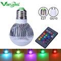 RGB LED Bulb New Arrival LED RGB Spotlight E27 GU10 9W AC 85-265V rgb Led Lamp with Remote Control multiple colour led rgb lamp