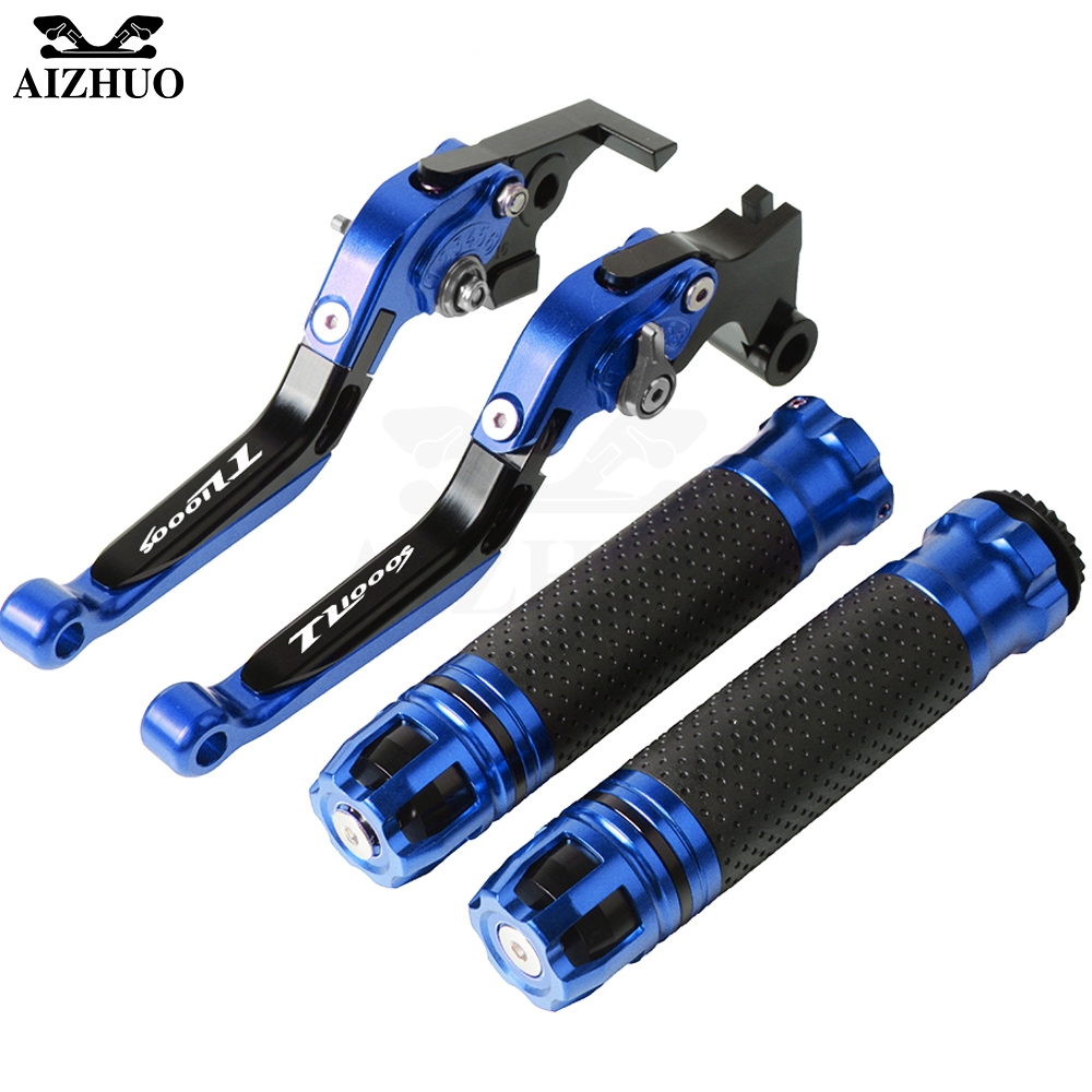 Motorcycle Accessories Brake Clutch Lever Extendable+Hand Grips Handlebar For <font><b>SUZUKI</b></font> TL1000S TL1000 S <font><b>TL</b></font> <font><b>1000S</b></font> 1997-2001 98 99 image