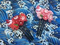 Ręcznie Wykonane Bawełnianą Szmatką Szpilka Do Włosów Klip Barrettes Królika Styl Japoński Anime Cosplay Akcesoria Piękne Kimono Bride Wentylator