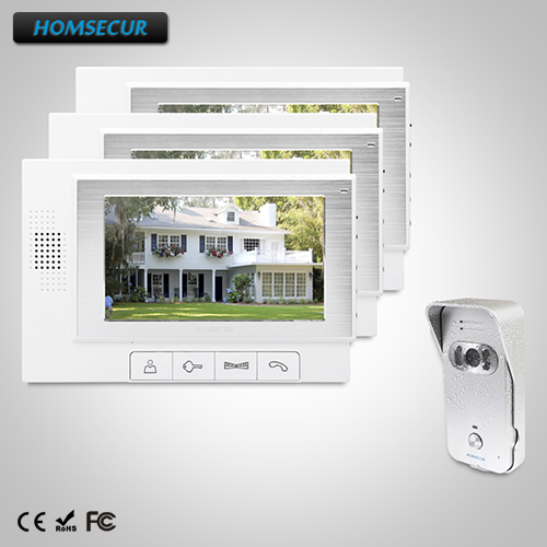 HOMSECUR 7 Video Door Entry Security Intercom Electric Lock Supported 1C3M TC021-S + TM702-WHOMSECUR 7 Video Door Entry Security Intercom Electric Lock Supported 1C3M TC021-S + TM702-W
