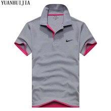 Camisa dos homens novos do polo de alta qualidade camisa pólo de algodão de  manga curta 63c06c94577e7