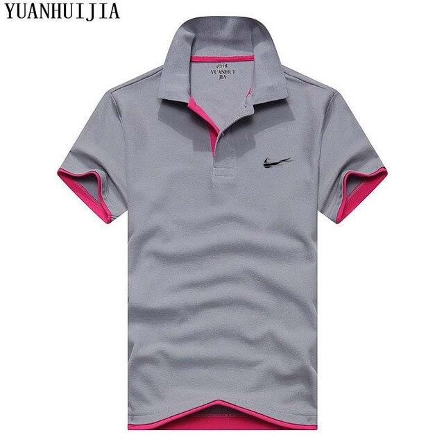 63d76b2db86 Nieuwe heren polo shirt hoge kwaliteit katoen korte mouwen zomer ademend  effen mannelijke polo shirt Casual business menswear in Nieuwe heren polo  ...