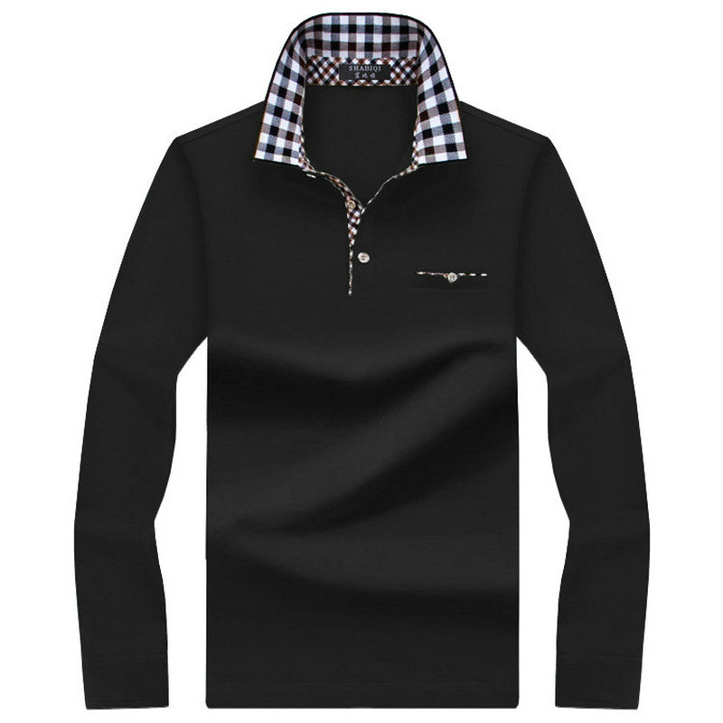 SHABIQI   Polo   Men Shirt Mens Long Sleeve Solid Shirts Camisa   Polos   men Shirt Masculina Casual cotton Striped Plus size S-10XL