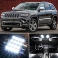 14 pcs x frete grátis livre de erros acessórios led interior luz kit pacote para jeep grand cherokee 2010-2016
