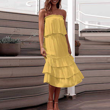 купить Two-piece suit Ruffles sexy dress Women elegant sleeveless party long dress Spring summer holiday maxi dress vestidos по цене 1581.83 рублей