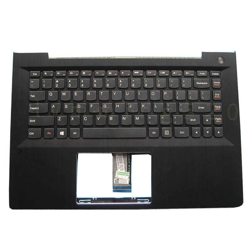 Free Shipping 1PC Original New Laptop Shell Cover C Palmrest With Keyboard Without Backlight For Lenovo